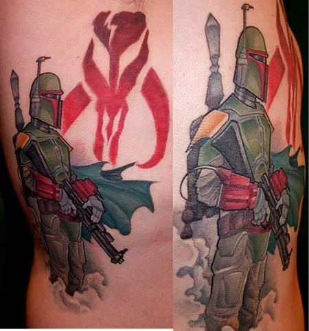 Tattoos - boba fett rib piece - 71700