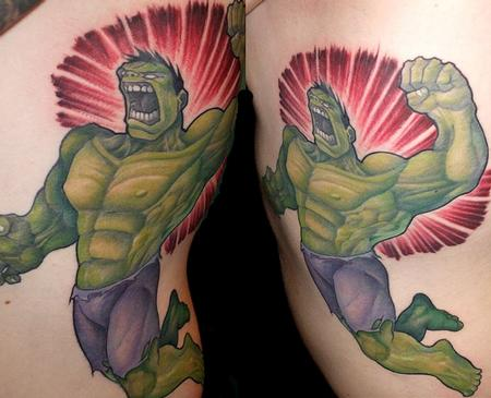 Tattoos - hulk rib piece  - 71704