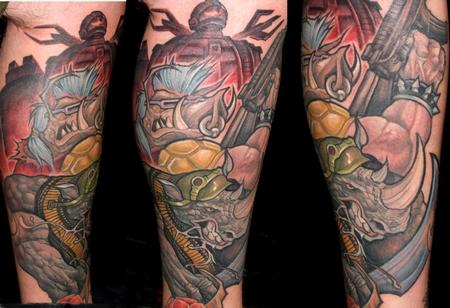 Tattoos - Rock Steady and Bebop TMNT - 71658