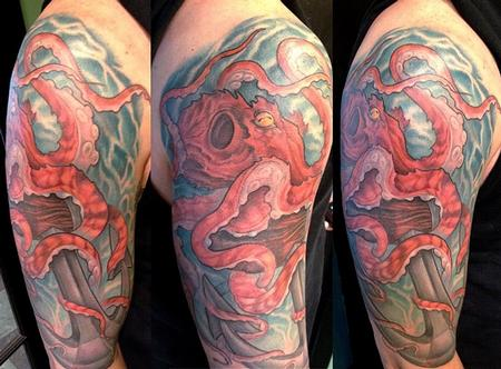 Tattoos - octopus/anchor half sleeve - 71706