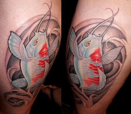 Tattoos - koi calf piece - 71707