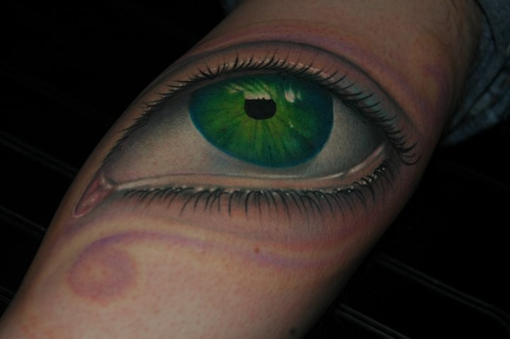 Tattoos - Realistic Eyeball Tattoo - 52660