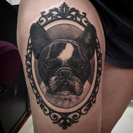 Matteo Pasqualin - Boston Terrier Tattoo