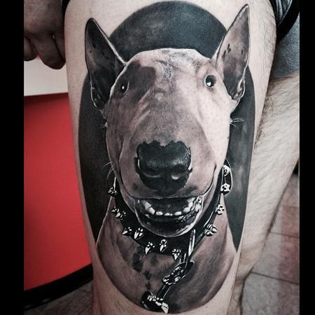 Tattoos - Dog Portrait Tattoo - 100597