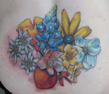 Tattoos - asheville flowers - 26255
