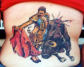 Kim Reed - bull painting repro