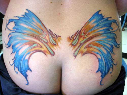 Tattoos - Colorful Wings - 6050