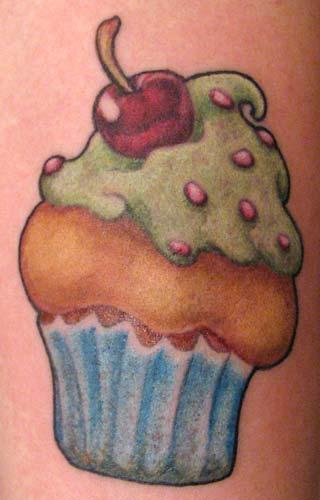 Tattoos - yummy cupcake - 26260
