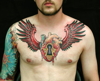 Tattoos - winged heart - 25075