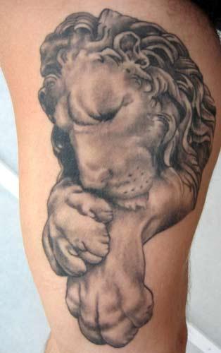 Tattoos - Lion - 14724