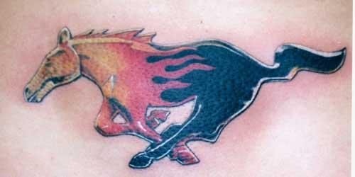 Tattoos - Mustang Tattoo - 6098