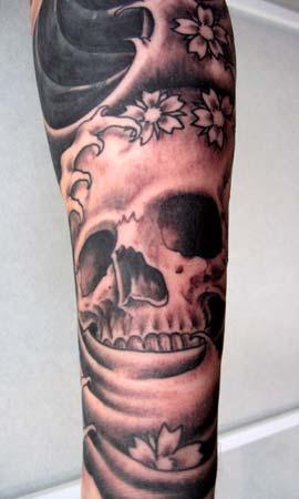 Tattoos - Skull in Water - 14726