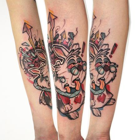 Tattoos - white stoned rabbit - 117743