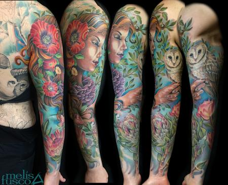 Tattoos - nature woman sleeve - 105039
