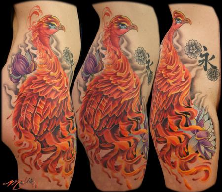 Tattoos - Perched Phoenix - 75783