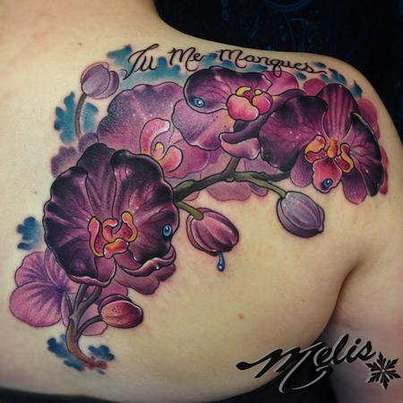 Tattoos - Purple Orchids - 94618