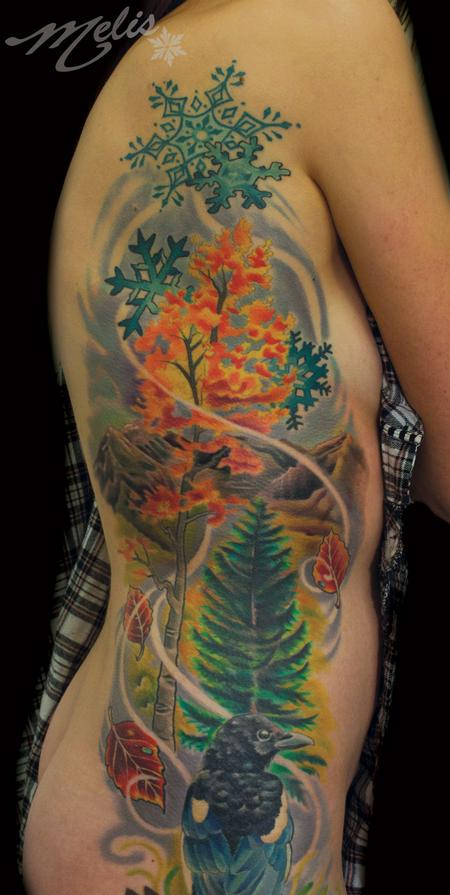 Tattoos - Landscape/cropped portion of larger piece - 91791