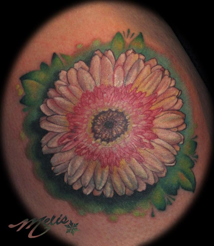 gerber daisy tattoo