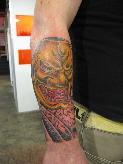 Miss Orange - Asian Mask tattoo