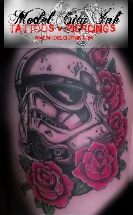 Tattoos - Stormtrooper with Roses - 131594