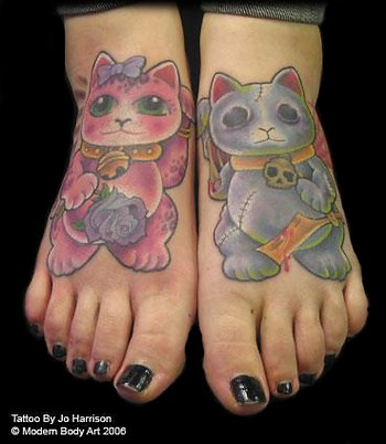 Jo Harrison - Cat Feet Tattoo