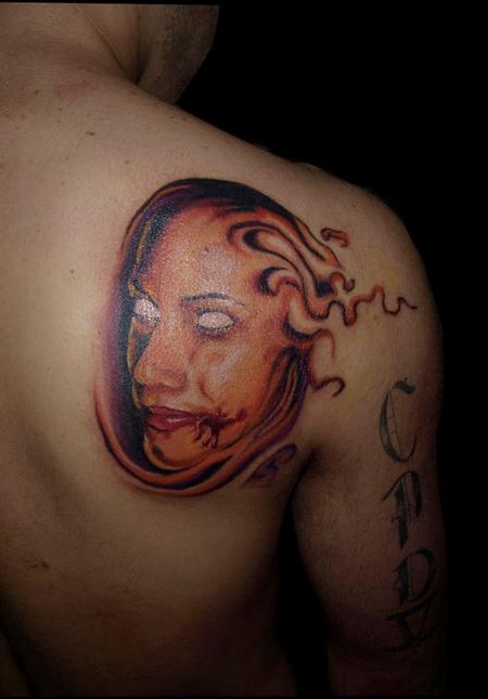 Tattoos - evil girl face - 72533