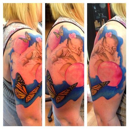 Tattoos - baby color memorial - 74441