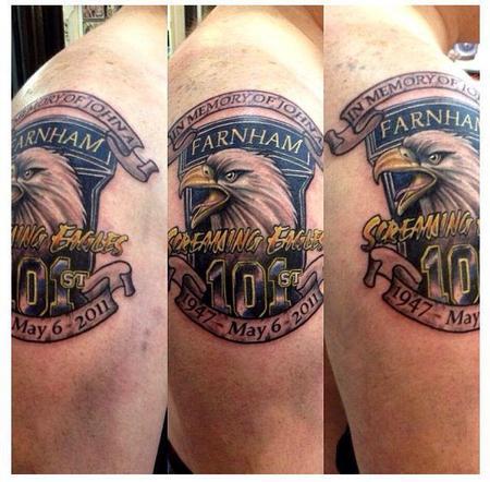 Tattoos - screaming eagles tattoo memorial - 73816