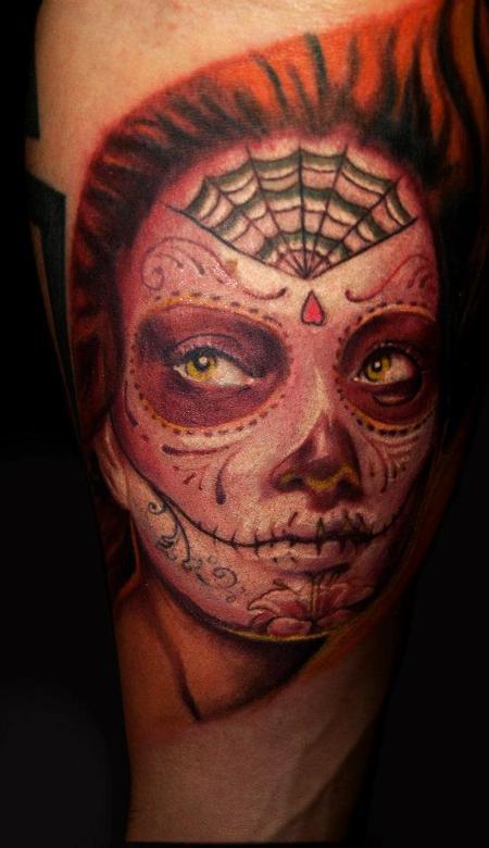 Tattoos - dia de los muertos / day of the dead girl - 72515