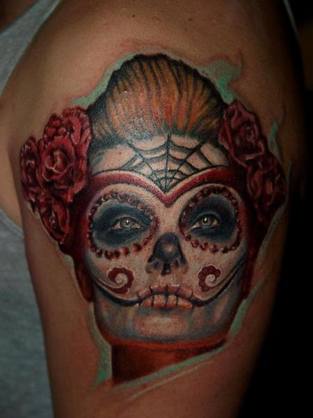 Tattoos - day of the dead,dia de los muertos - 72516