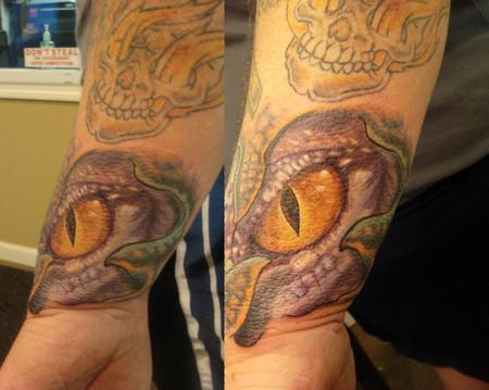 Tattoos - lizard eye color tattoo - 72658