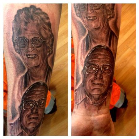 Tattoos - grand parents memorial tattoo - 72654