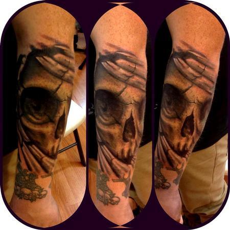 Tattoos - skull bio organic - 72524
