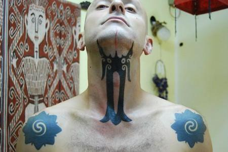 Jeremy Lo - Hand Tapped Throat Tattoo