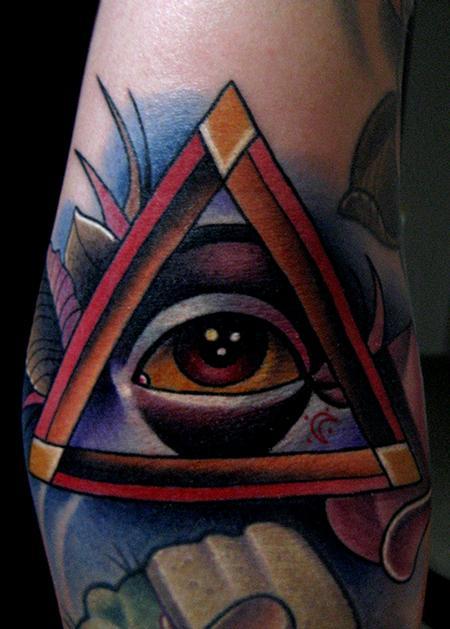 Jonathan Montalvo - all seeing eye tattoo