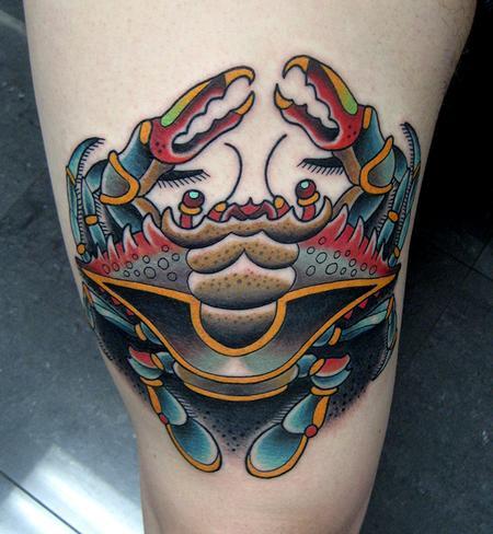Jonathan Montalvo - blue crab tattoo