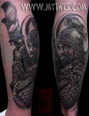 Tattoos - China Warrior - 29419