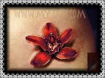 Tattoos - Flower on Hip - 29421