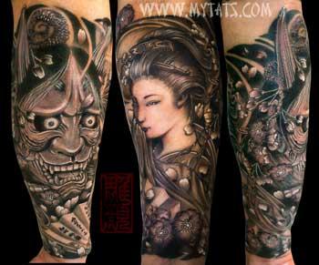 Tattoos - Geisha and Hannya - 29422