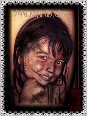 Tattoos - Girl Portrait - 29287