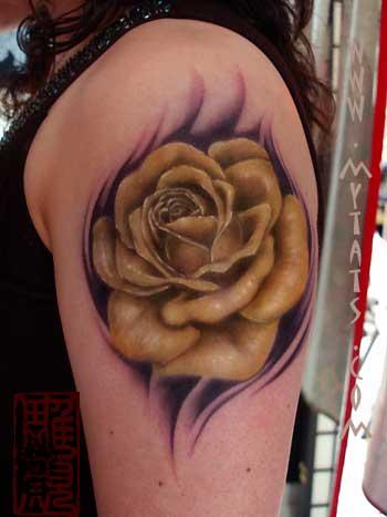 Tattoos - Big Yellow Rose - 29291