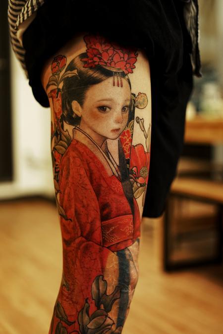 Tattoos - Color Leg Sleeve - 142947