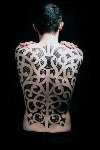 Tattoos - maori backpiece - 28026
