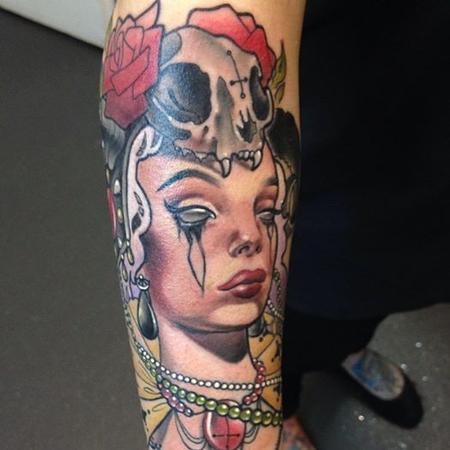 Tattoos - Closer view of Evil Woman - 92078