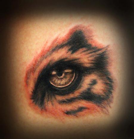 Tattoos - Full color tiger's eye - 69971