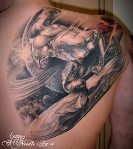 Tattoos - Silver Surfer surfing the web - 59797