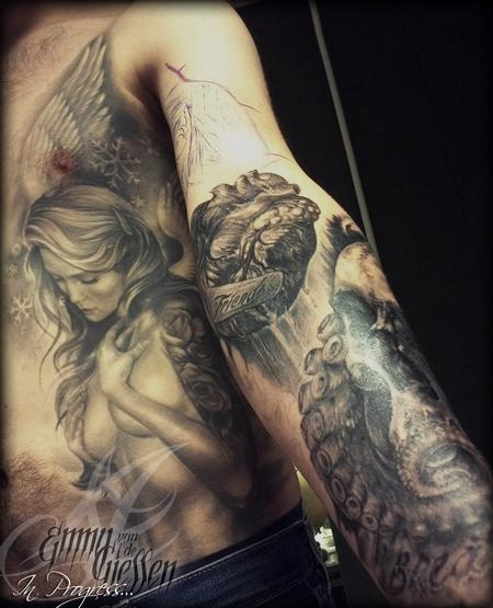 Tattoos - SULLEN angel continued - 62514