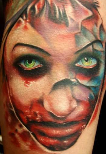 Tattoos - Evil Girl portrait - 28400
