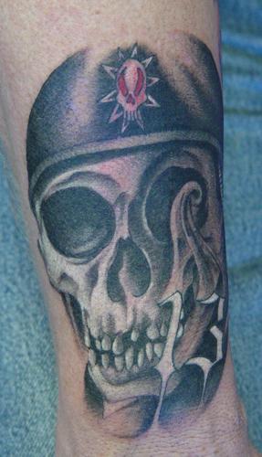 Tattoos - biker skull - 12517