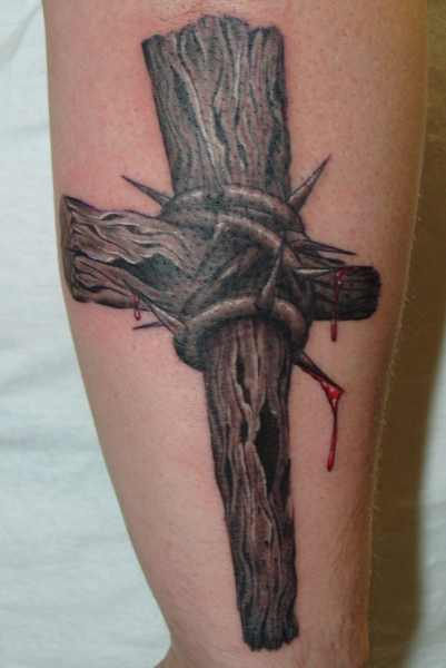 Tattoos - wooden cross - 32158